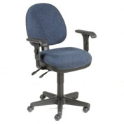 Multifunction Task Chair with Arms - Fabric - Blue