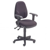 Multifunction Office Chair - Fabric - Mid Back - Black