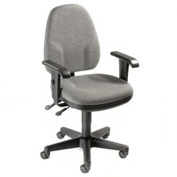 Multifunction Office Chair With Arms - Fabric - Gray