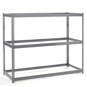 "Wide Span Rack 48""W x 48""D x 60""H With 3 Shelves No Deck 1200 Lb Capacity Per Level"