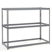 "Wide Span Rack 72""W x15""D x 60""H With 3 Shelves No Deck 900 Lb Capacity Per Level"