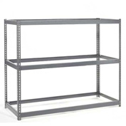 "Wide Span Rack 48""W x 48""D x 96""H With 3 Shelves No Deck 1200 Lb Capacity Per Level"
