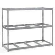 "Wide Span Rack 96""W x 24""D x 96""H With 3 Shelves No Deck 1100 Lb Capacity Per Level"