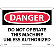 """Safety Signs - Danger Do Not Operate - Rigid Plastic 10""""H X 14""""W"""