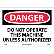"Safety Signs - Danger Do Not Operate - Vinyl 10""H X 14""W"