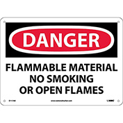 Signs With Safety Message Legend-Danger Flammable Material