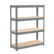 "Extra Heavy Duty Shelving 48""W x 18""D x 60""H With 4 Shelves, Wood Deck"