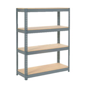 "Extra Heavy Duty Shelving 48""W x 24""D x 60""H With 4 Shelves, Wood Deck"