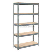"Extra Heavy Duty Shelving 48""W x 12""D x 96""H With 5 Shelves, Wood Deck"
