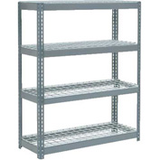 "Extra Heavy Duty Shelving 48""W x 18""D x 60""H With 4 Shelves, Wire Deck"