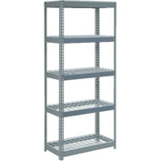 "Extra Heavy Duty Shelving 36""W x 24""D x 84""H With 5 Shelves, Wire Deck"