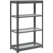 """Heavy Duty Shelving 36""""W x 24""""D x 60""""H With 4 Shelves, Wire Deck"""