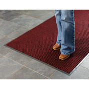Deep Cleaning Ribbed 3 Foot Wide Roll Entrance Mat Red