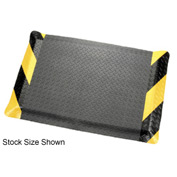 "Diamond Plate Ergonomic Mat 2'W, 75' Roll 9/16"" Thick Black/Chevron"