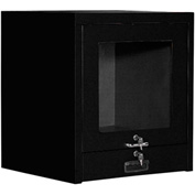 Counter Top CRT Security Computer Cabinet - Black