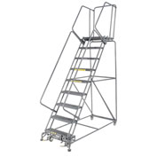 "Grip 24""W 9 Step Steel Rolling Ladder 21""D Top Step"
