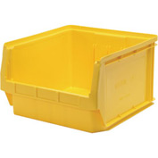 Quantum Magnum Plastic Stackable Storage Bin QMS543 18-3/8 x 19-3/4 x 11-7/8 Yellow