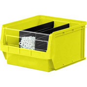 Quantum Magnum Plastic Stackable Storage Bin QMS533 12-3/8 x 19-3/4 x 11-7/8 Yellow - Pkg Qty 3