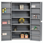 "Easy Assembly 38""W Cabinet With Shelving In Doors And Interior"