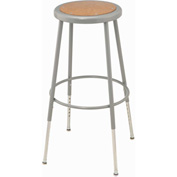 "Shop Stool with Hardboard Seat – Adjustable Height 24""-33"" - Gray - Pkg Qty 2"