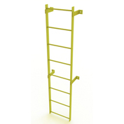 8 Step Steel Standard Uncaged Fixed Access Ladder, Yellow - WLFS0108-Y