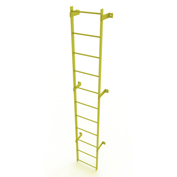 11 Step Steel Standard Uncaged Fixed Access Ladder, Yellow - WLFS0111-Y