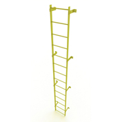 14 Step Steel Standard Uncaged Fixed Access Ladder, Yellow - WLFS0114-Y