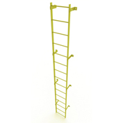 15 Step Steel Standard Uncaged Fixed Access Ladder, Yellow - WLFS0115-Y