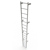 17 Step Steel Standard Uncaged Fixed Access Ladder, Gray - WLFS0117