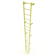 20 Step Steel Standard Uncaged Fixed Access Ladder, Yellow - WLFS0120-Y