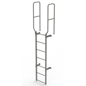 7 Step Steel  Walk Through With Handrails Fixed Access Ladder, Gray - WLFS0207