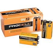 Duracell® Procell® PC1604 9V Battery - Pkg Qty 12