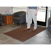 Chevron Ribbed  Mat 4 Foot Wide  Brown
