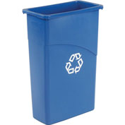 23 Gallon Rectangular Rubbermaid Recycling Container - Blue