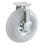 "Rigid Plate Caster 10"" Full Pneumatic Wheel 330 Lb. Capacity"