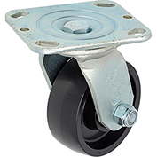 "Heavy Duty Swivel Plate Caster 4"" Molded Plastic Wheel 420 Lb. Capacity"