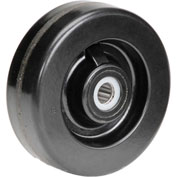 "6"" x 2"" Molded Plastic Wheel - Axle Size 3/4"""