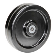 "12"" x 3"" Molded Plastic Wheel - Axle Size 1"""