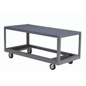 Portable Steel Table 1 Shelf 60x30 1200 Lb. Capacity Unassembled