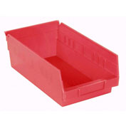 "Akro-Mils Plastic Shelf Bin Nestable 30150 - 8-3/8""W x 11-5/8""D x 4""H Red - Pkg Qty 12"