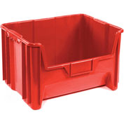 Heavy Duty Plastic Hopper Bin - Red - Price Each, Sold Pkg Qty 3 - Pkg Qty 3