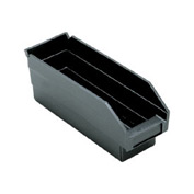 "Quantum Recycled Shelf Bin QSB101BR Nestable, 4-1/8""W x 11-5/8""D x 4""H - Pkg Qty 36"