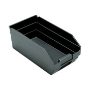 "Quantum Recycled Shelf Bin QSB102BR Nestable, 6-5/8""W x 11-5/8""D x 4""H - Pkg Qty 30"