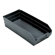 "Quantum Recycled Shelf Bin QSB108BR Nestable, 8-3/8""W x 17-7/8""D x 4""H - Pkg Qty 10"