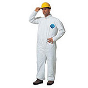 Dupont™Tyvek® Disposable Coverall with Open Ended Wrists/Ankles, L, Case Of 25