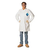 Disposable Lab Coat - 2 Pocket - Open Collar - Snap Front, M, Case Of 30