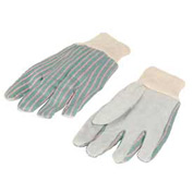 Leather Palm Gloves Knit Wrist, 1 Dozen