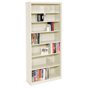 "Quick Adjust Steel Bookcase - 84""H Putty"
