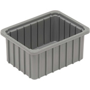 "Dandux Dividable Stackable Plastic Box 50P0110042 -  11""L x 8""W x 4-1/4""H, Gray"