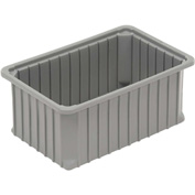 "Dandux Dividable Stackable Plastic Box 50P0112080 -  16""L x 11""W x 8""H, Gray"